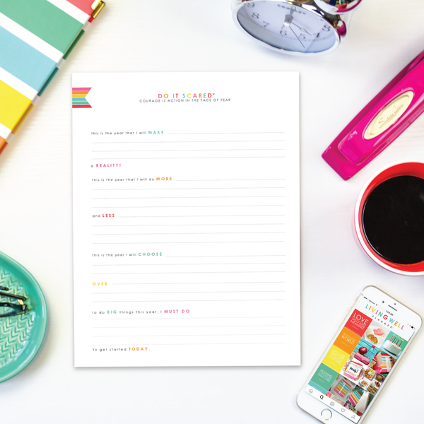 Do It Scared™ Purpose Statement Worksheet {Digital Download}