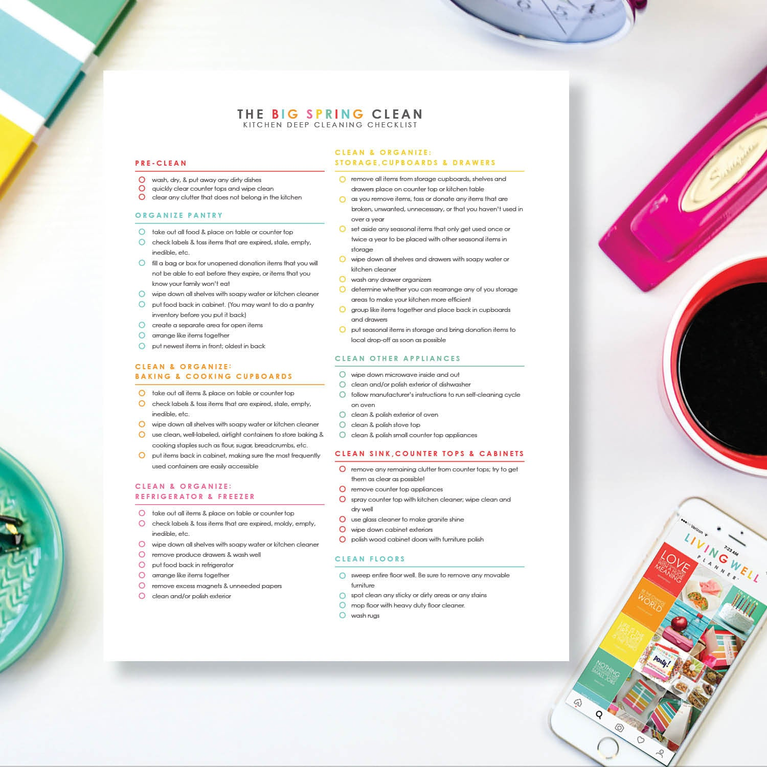 Big Spring Clean Kitchen Deep Cleaning Checklist {Digital Download}