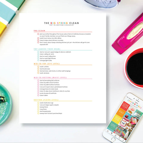 Big Spring Clean Top to Bottom Checklist {Digital Download}