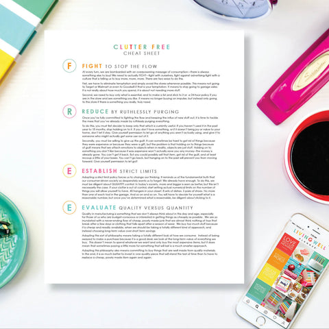 Clutter Free Cheat Sheet {Digital Download}