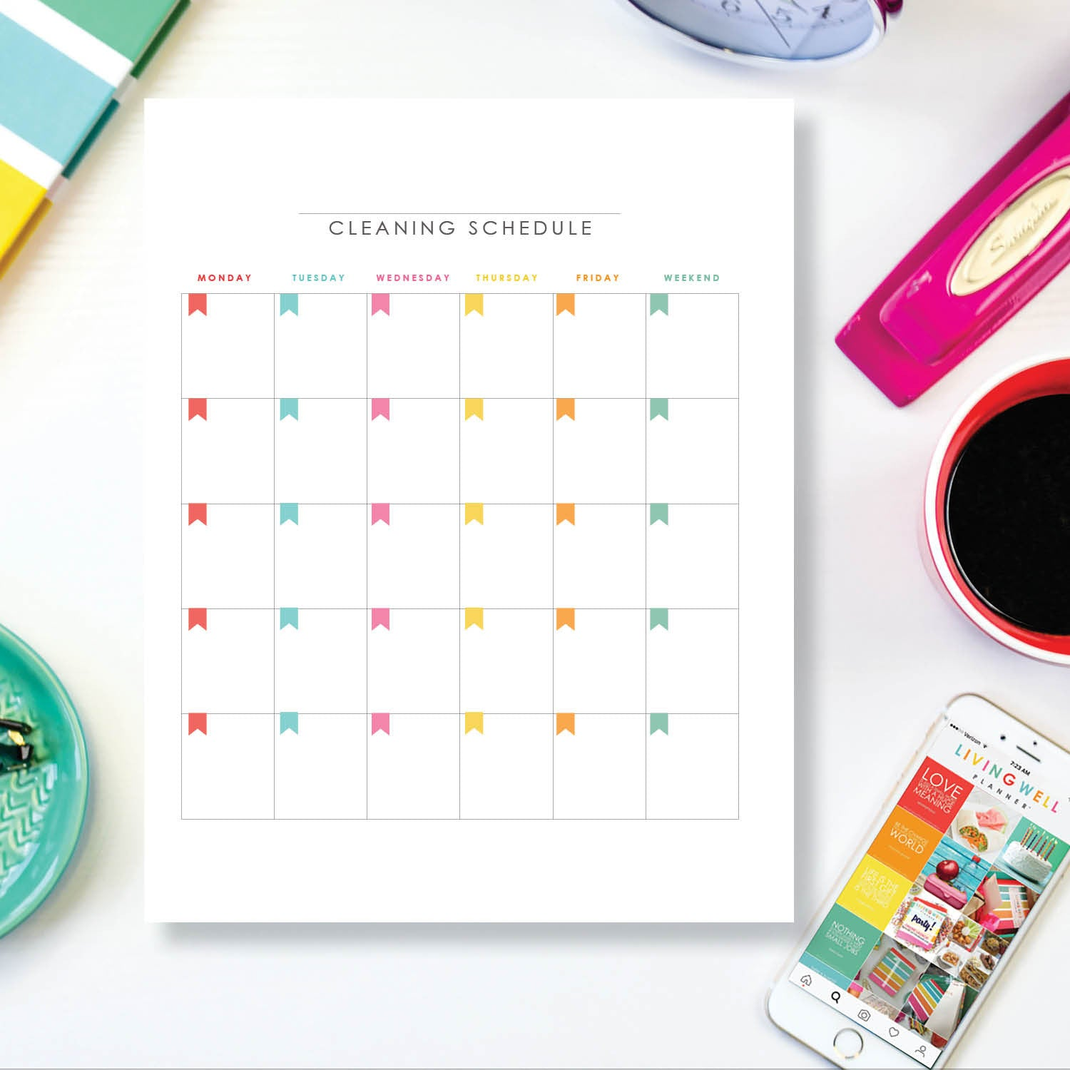 Monthly Cleaning Schedule {Digital Download}