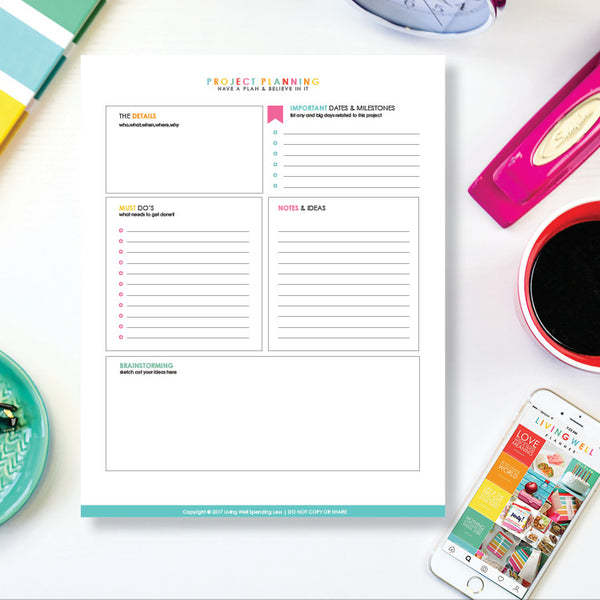 Project Planning Worksheet {Digital Download}