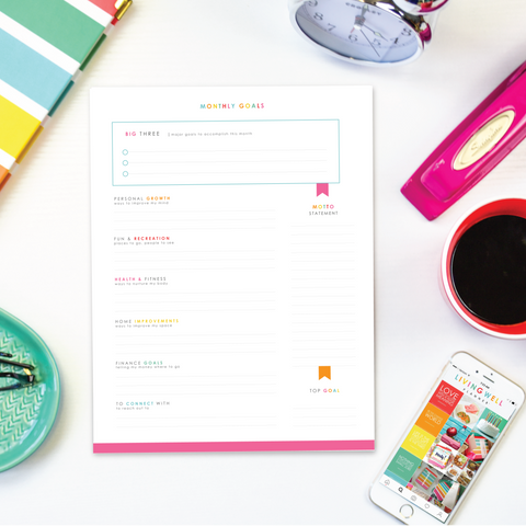 Monthly Goal Worksheet {Digital Download}
