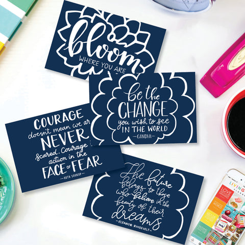 Set of 4 Note Cards {Digital Download}