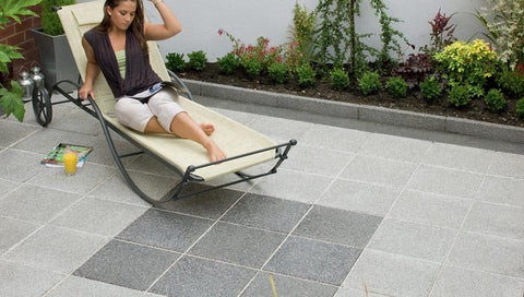 Argent Smooth Garden Paving