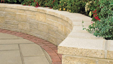 Marshalite Split Faced Garden Walling