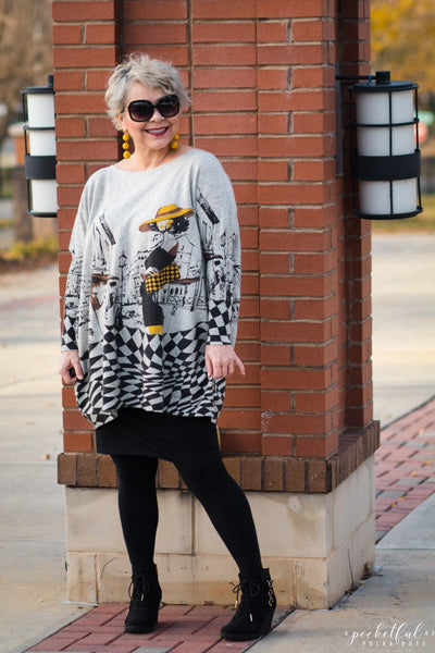 FUN GRAPHIC PRINT SWEATER & LINKUP