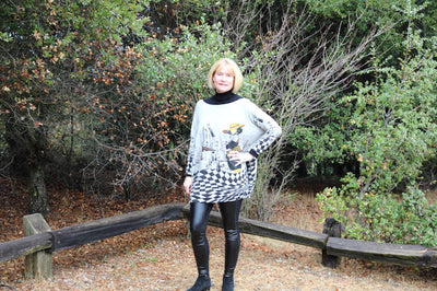 Oversized Graphic Sweater/jumper From Evatrends