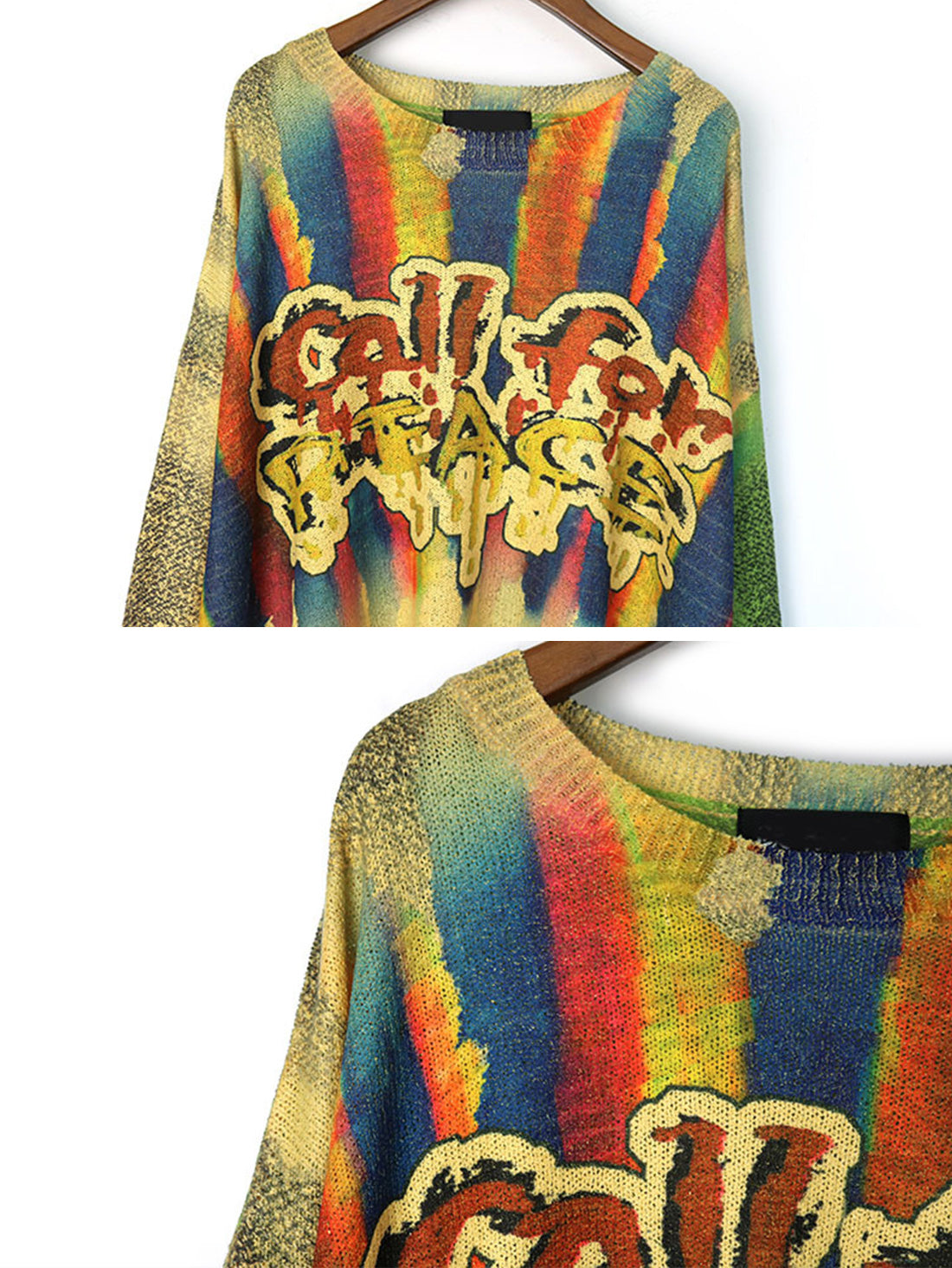 Call For Peace Sweater Top Details 1