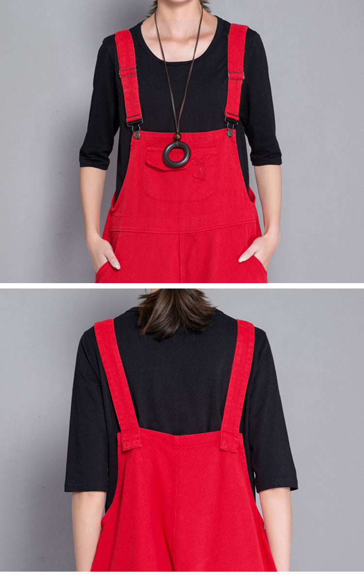 Poetic Presence Cropped Overalls Dungaree Details