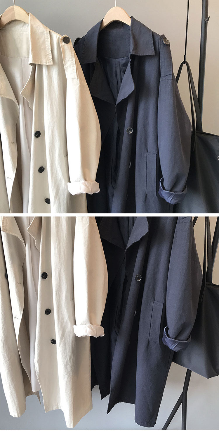 No Limits Crepe Trench Coat Details 1