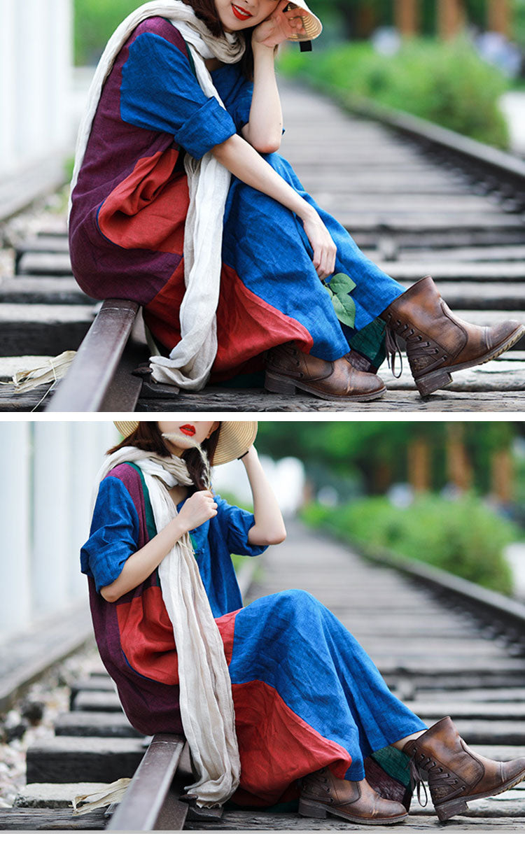 Covered With Color Midi Dress Details