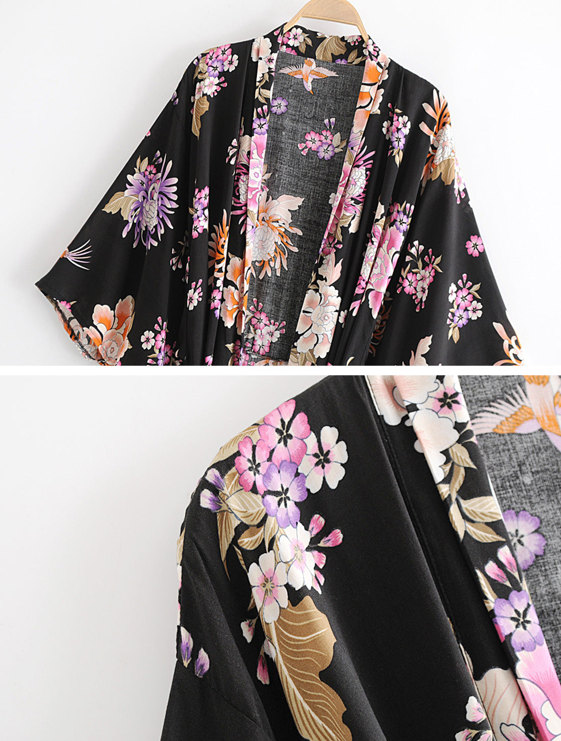 Simple As Can Kimono Robe Details 1