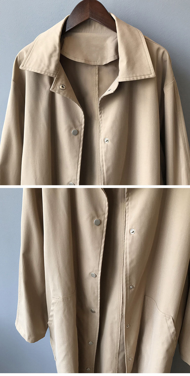 Salient Style Collared Coat Details 1