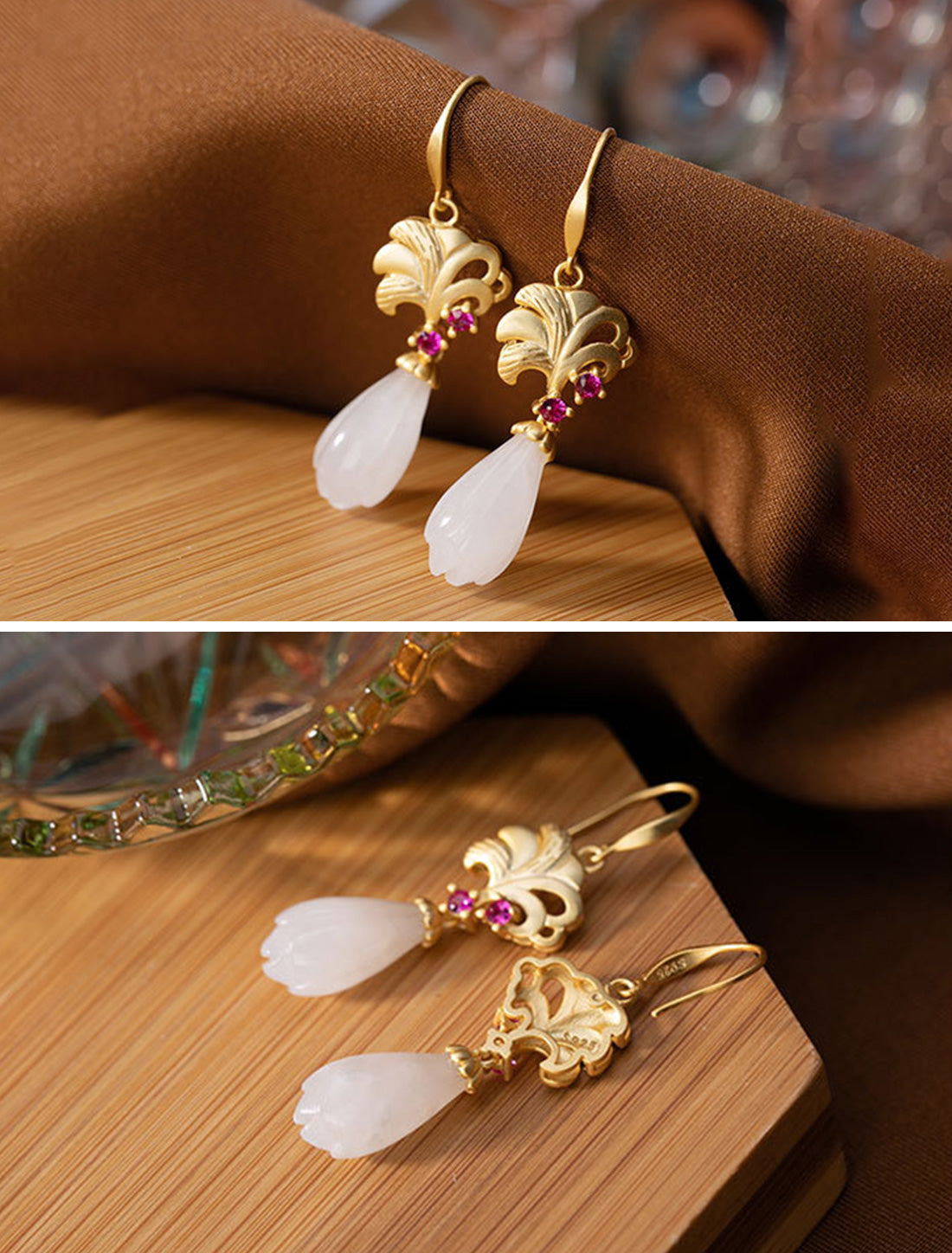 Natural Notion Drop Earrings Details 1