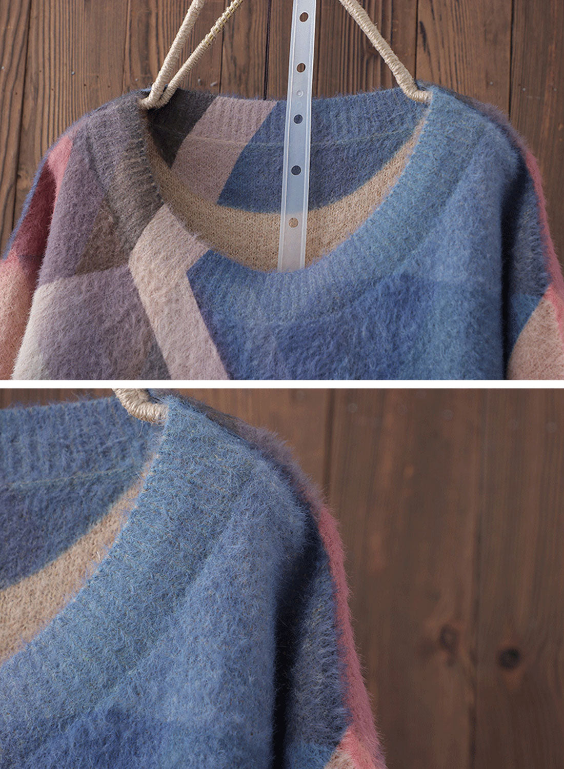 Vintage Full-Sleeve Cotton Sweater Details 1