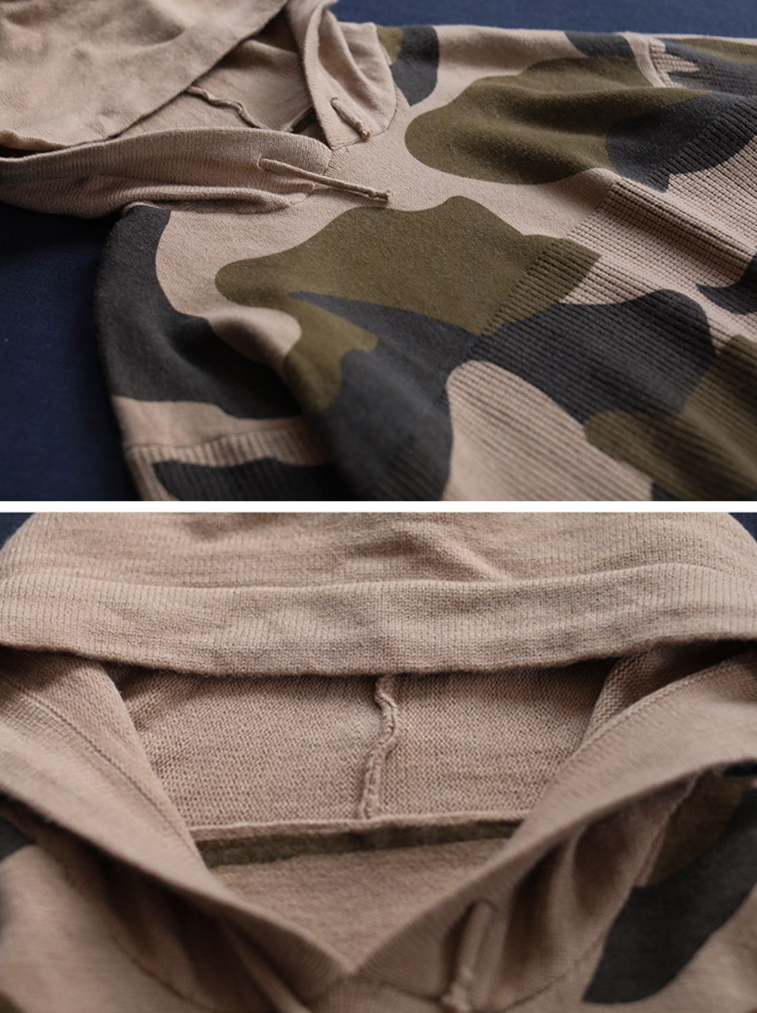 Wild Camouflage Hooded Sweater Details 1
