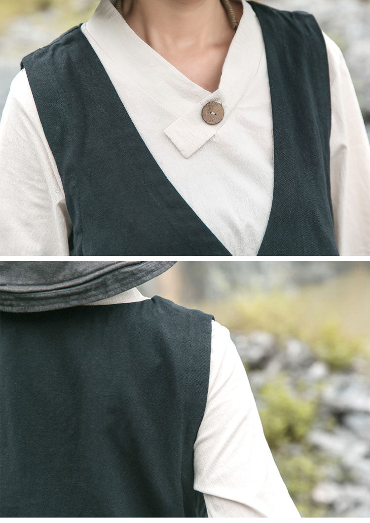 Genuine Self Sleeveless Coat Details 1