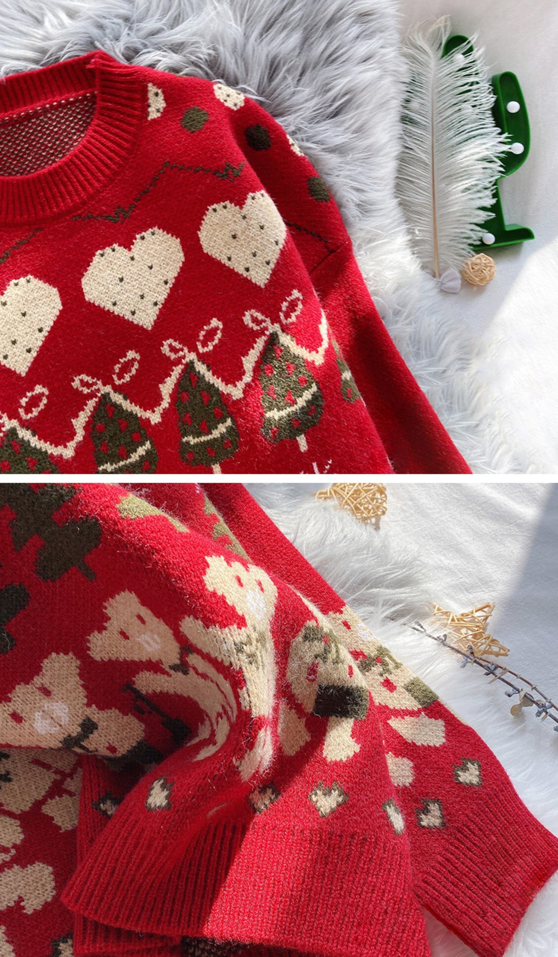 Time For A Beer Christmas Sweater Details 1