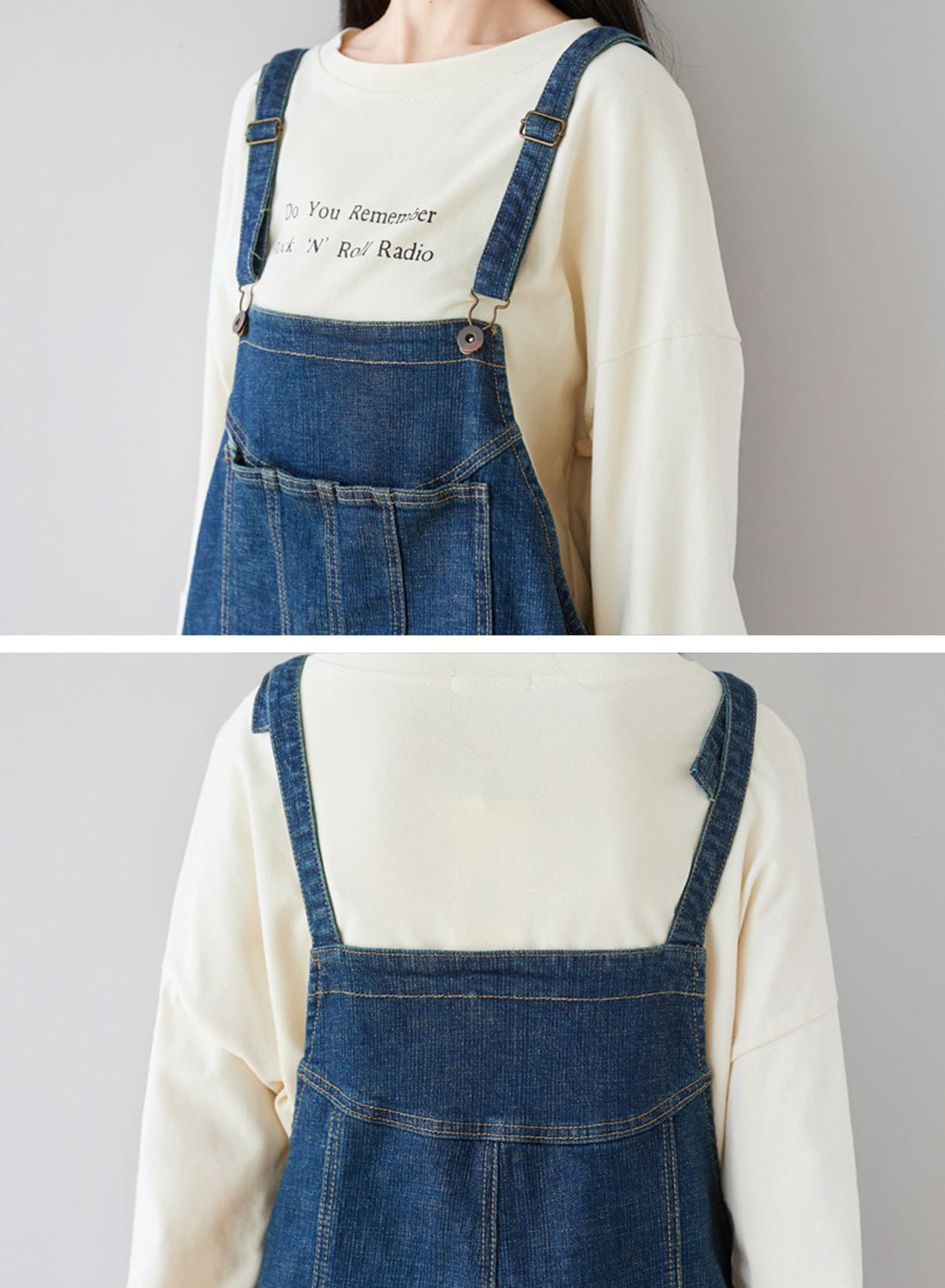 The Kellianne Patched Denim Overalls Dungarees Details 1