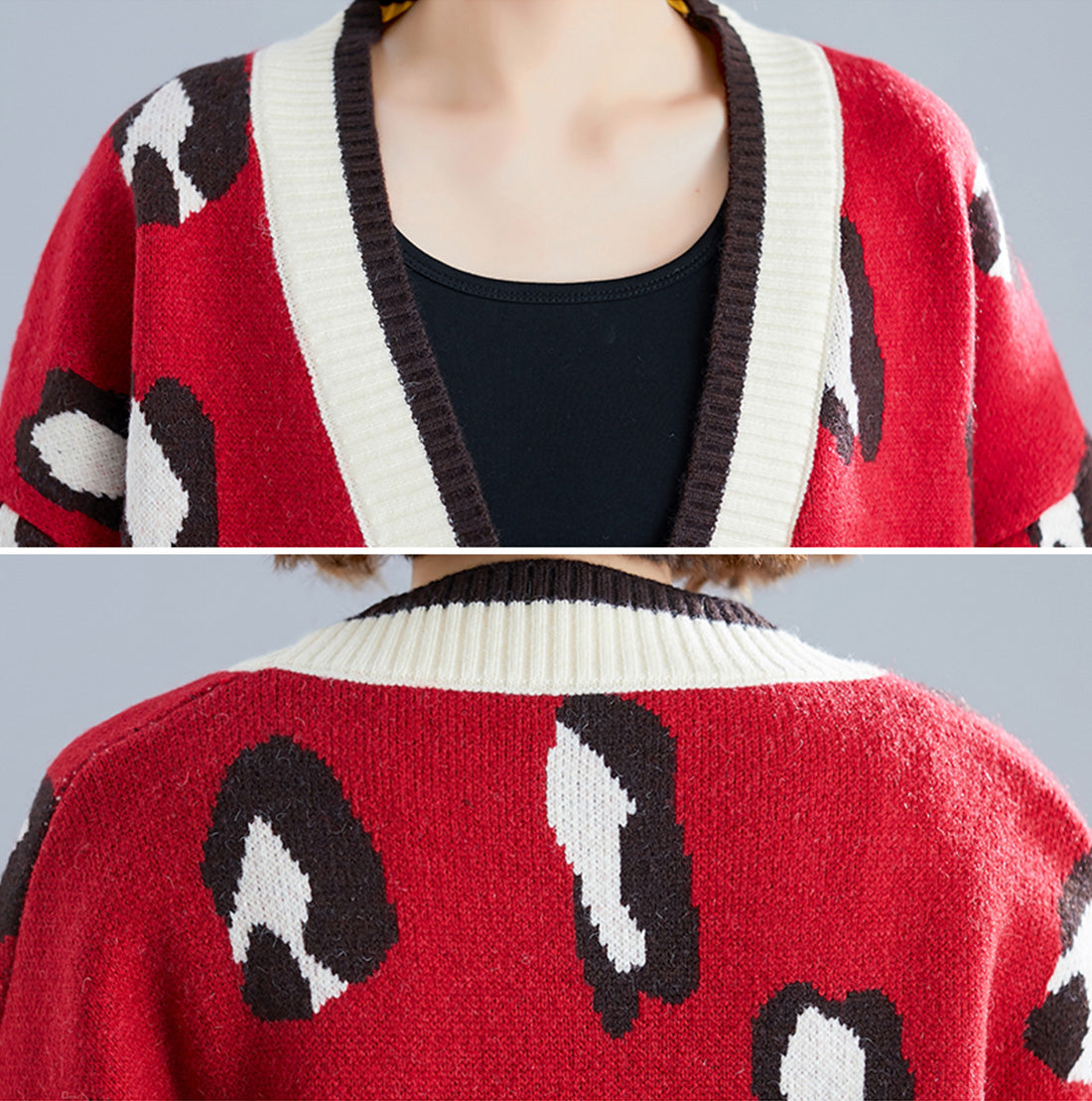 Crazy for You Leopard Cardigan Sweater Details 1