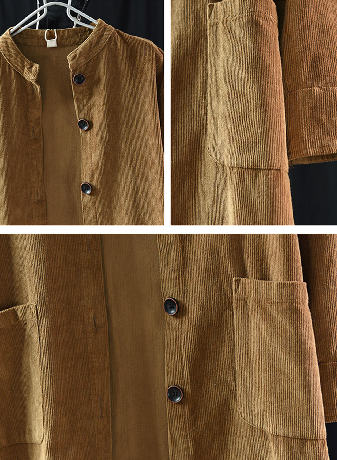El Salvador Cotton & Linen Cardigan Jacket Details 1