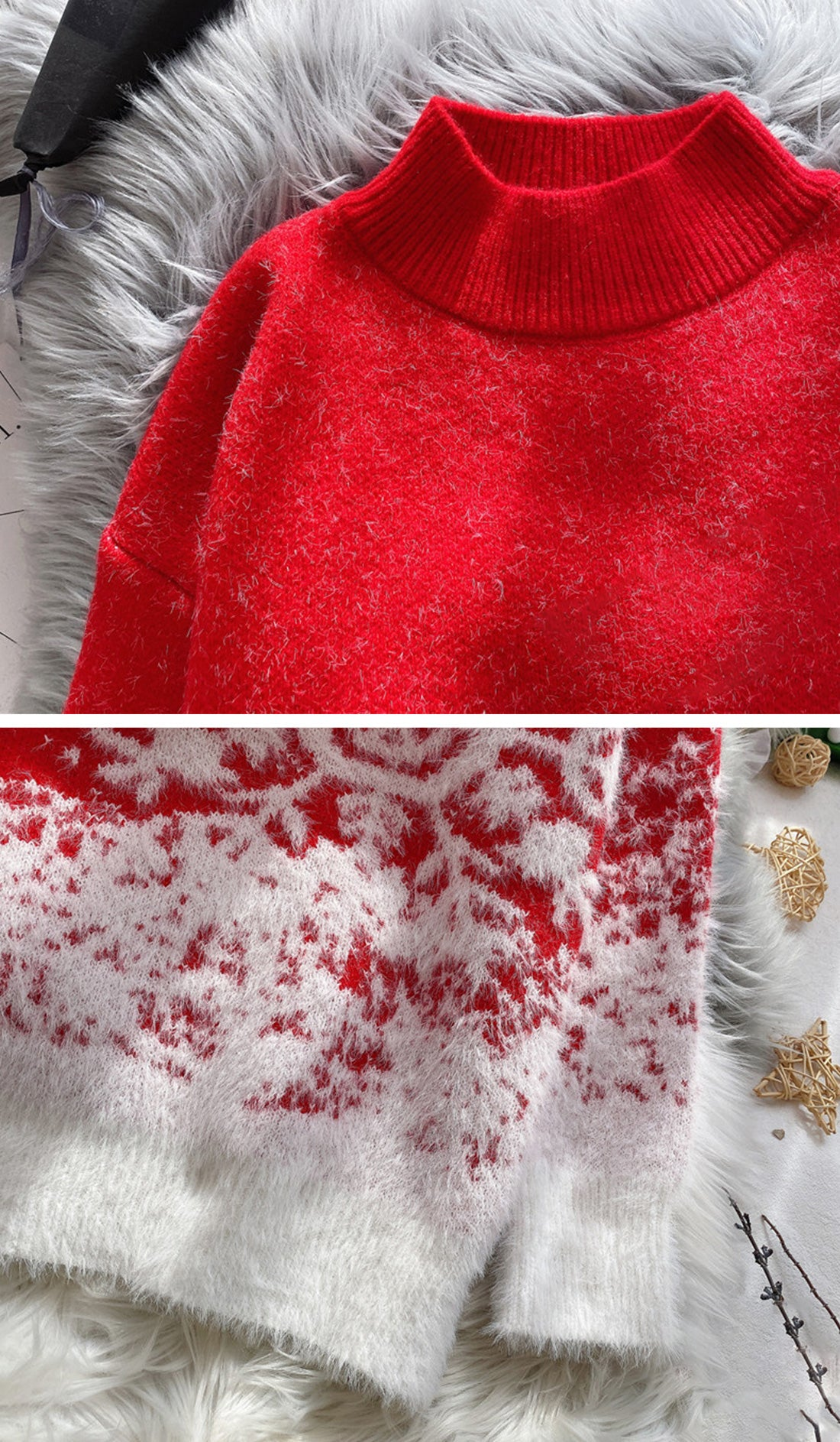Snow Falling For Me Christmas Sweater Details 1