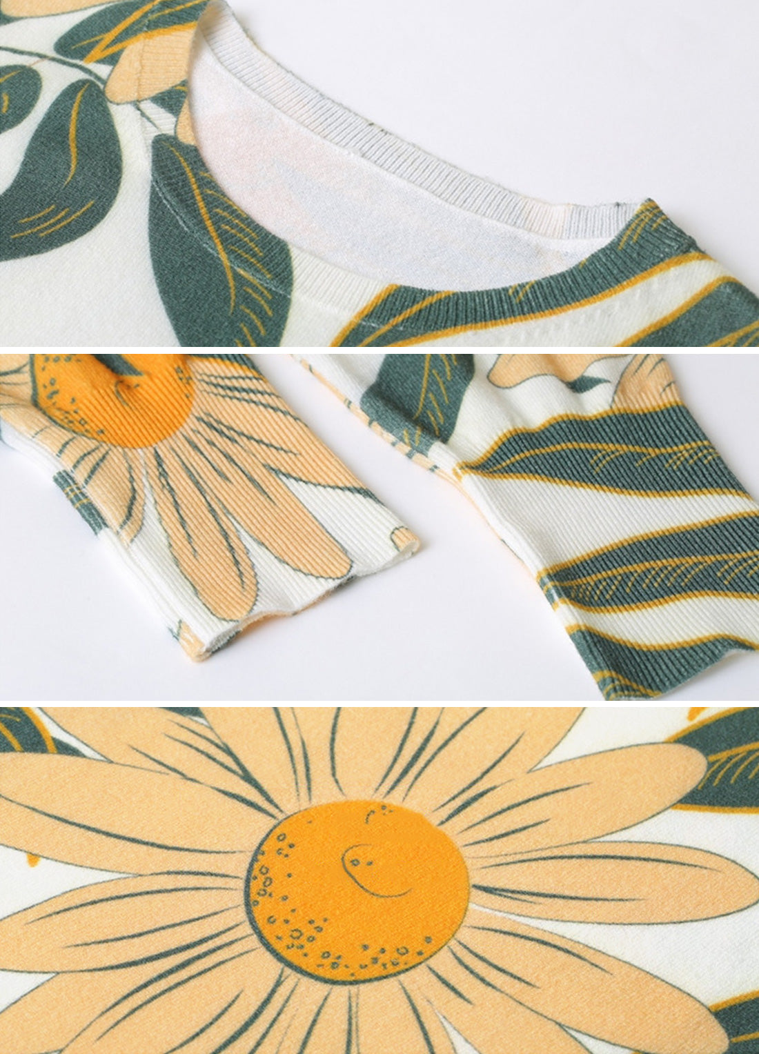 Evening Light Blooming Flower T-Shirt Details