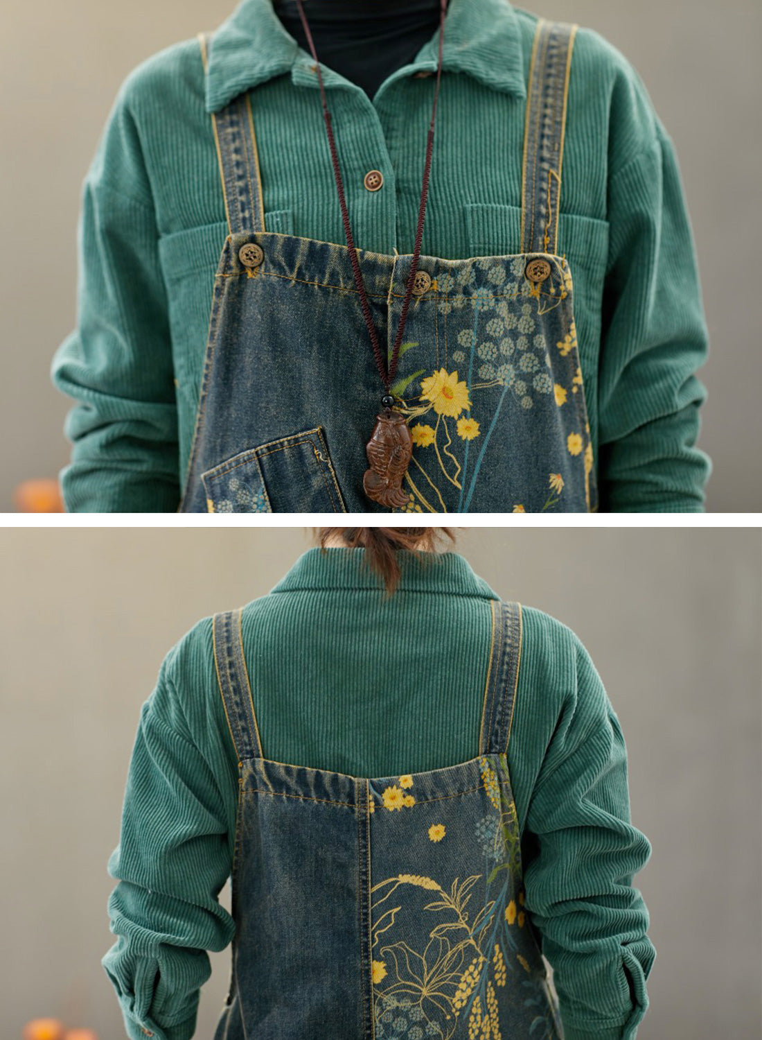 Theodosia Denim Ripped Overalls Dungarees Details 1