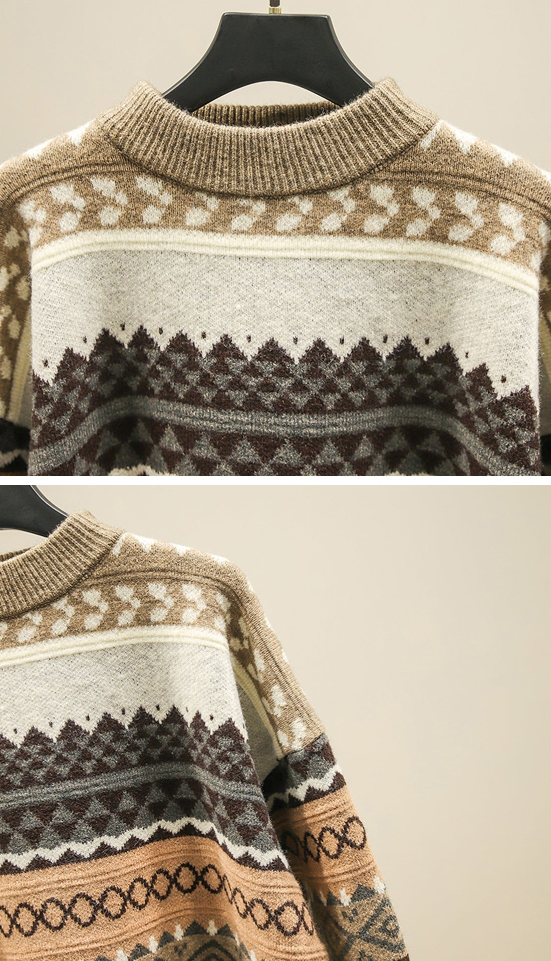 Woods Reversible Sweaters Details 1