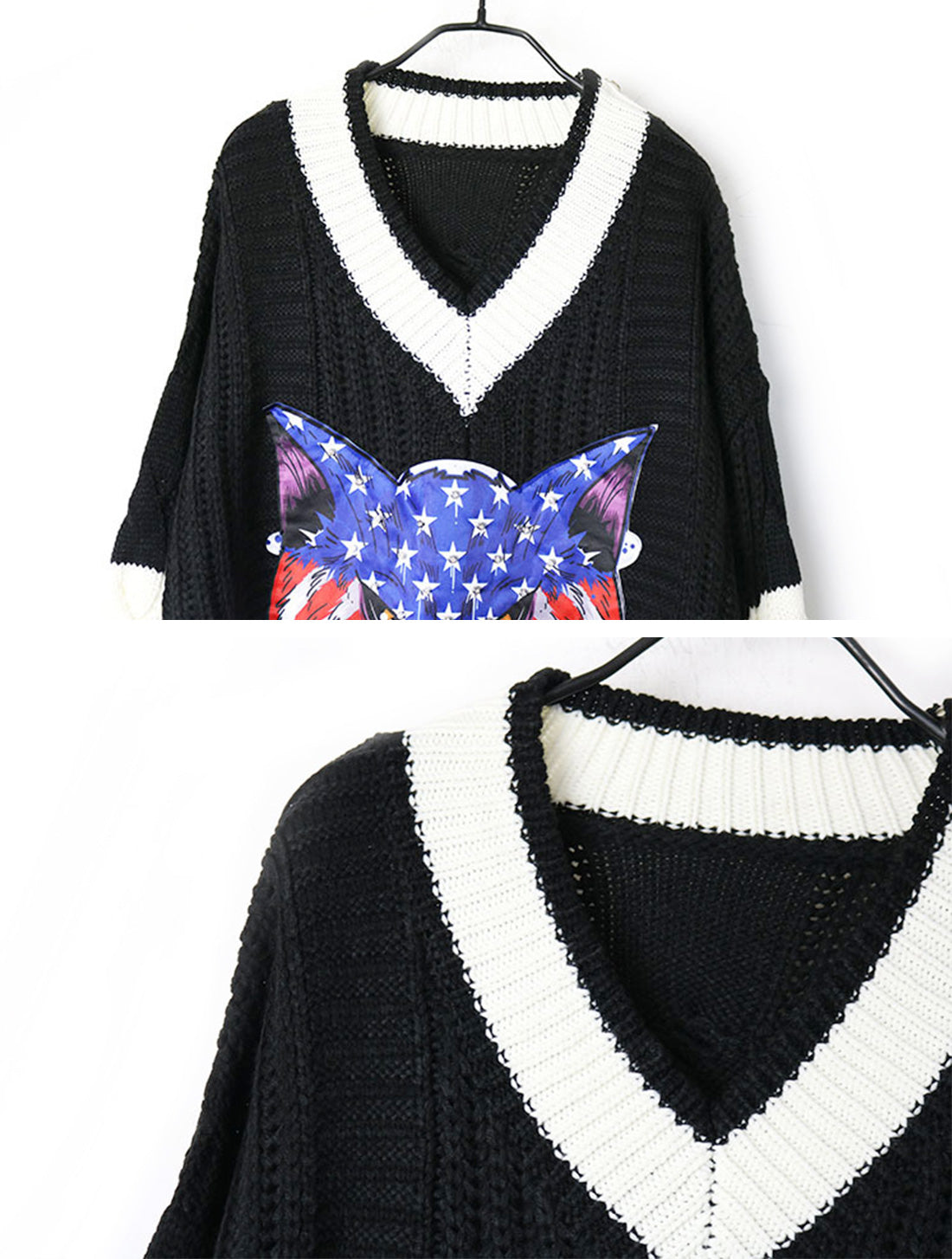 Thunder The Angry Face Sweater Top Details 1