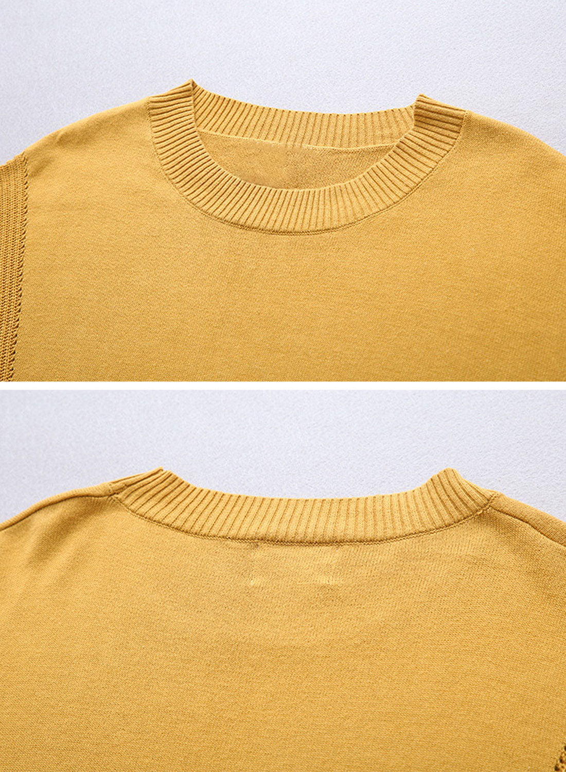 Stitching Sweaters with Side Printing Details 1