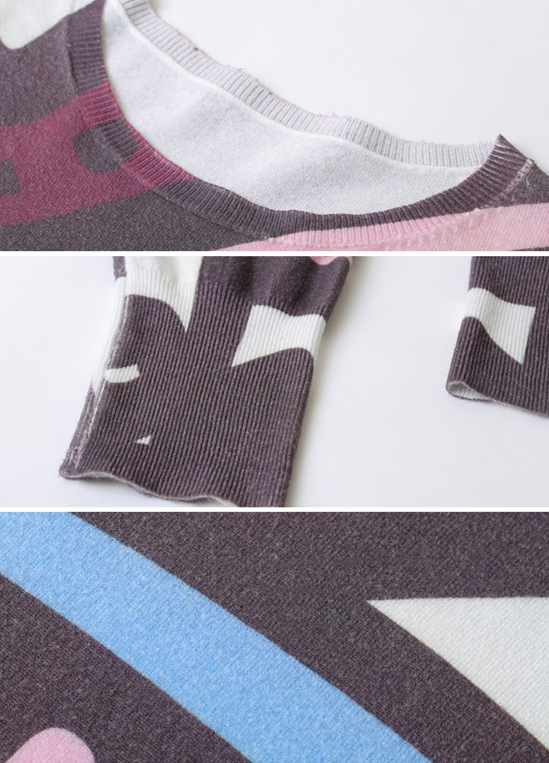 Exaggerated Geo Patterns T-Shirt Details