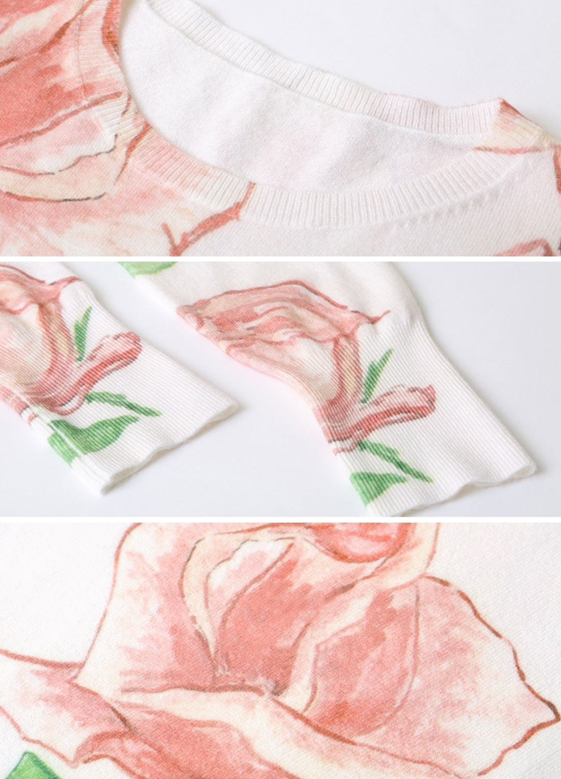 Rose Is My Flower Scoop-Neck T-Shirt Details