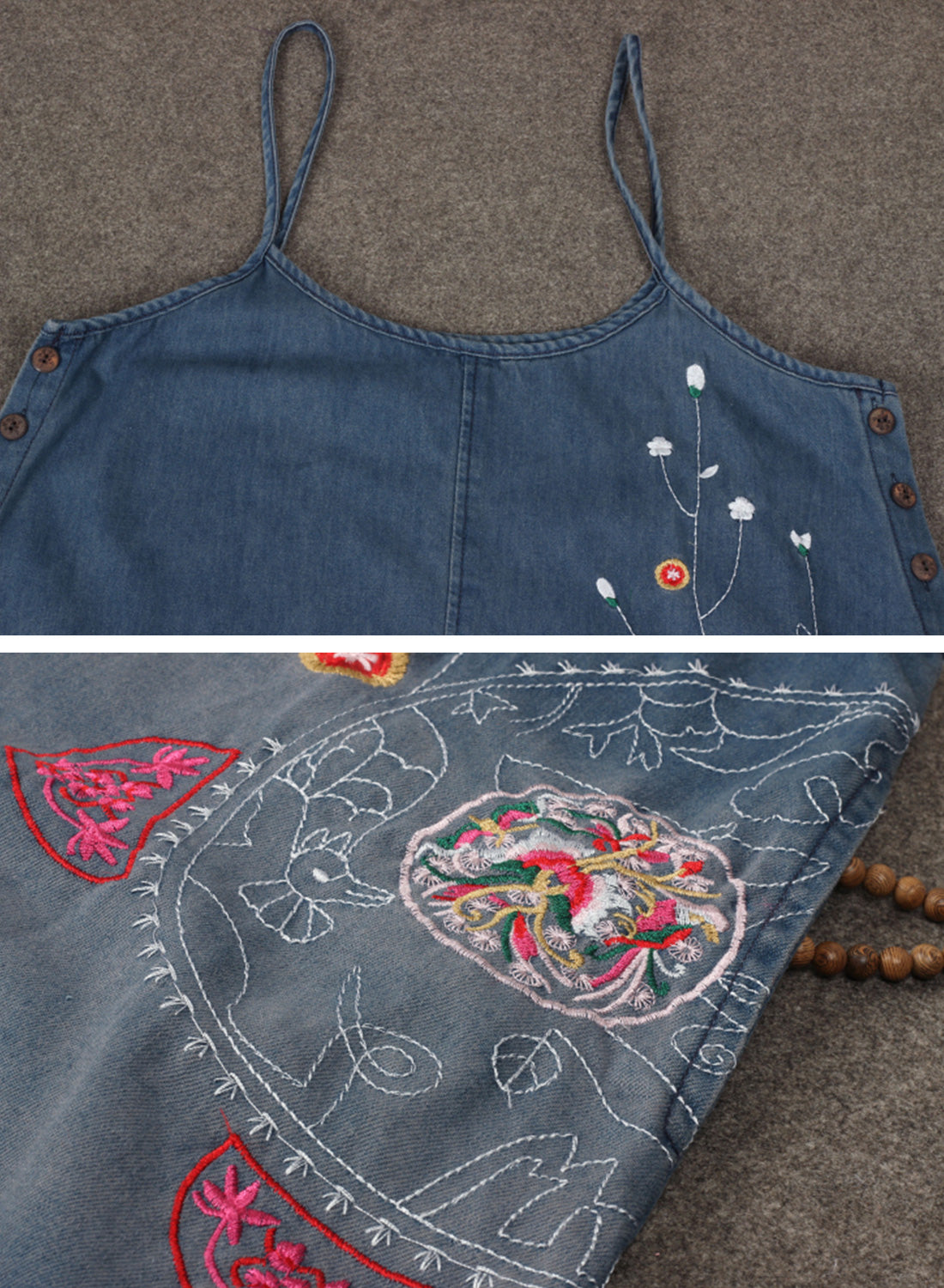 She's So Fancy Cotton Denim Overalls Dungarees Details 1