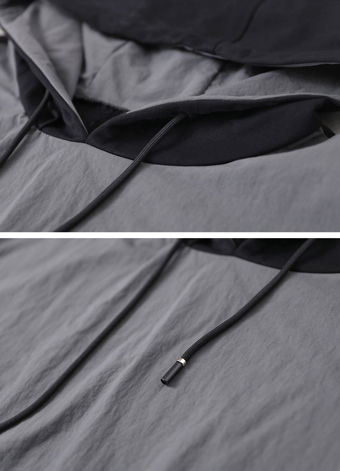 For Tonight Splicing Front Pocket Hooded Midi Dress Details 1