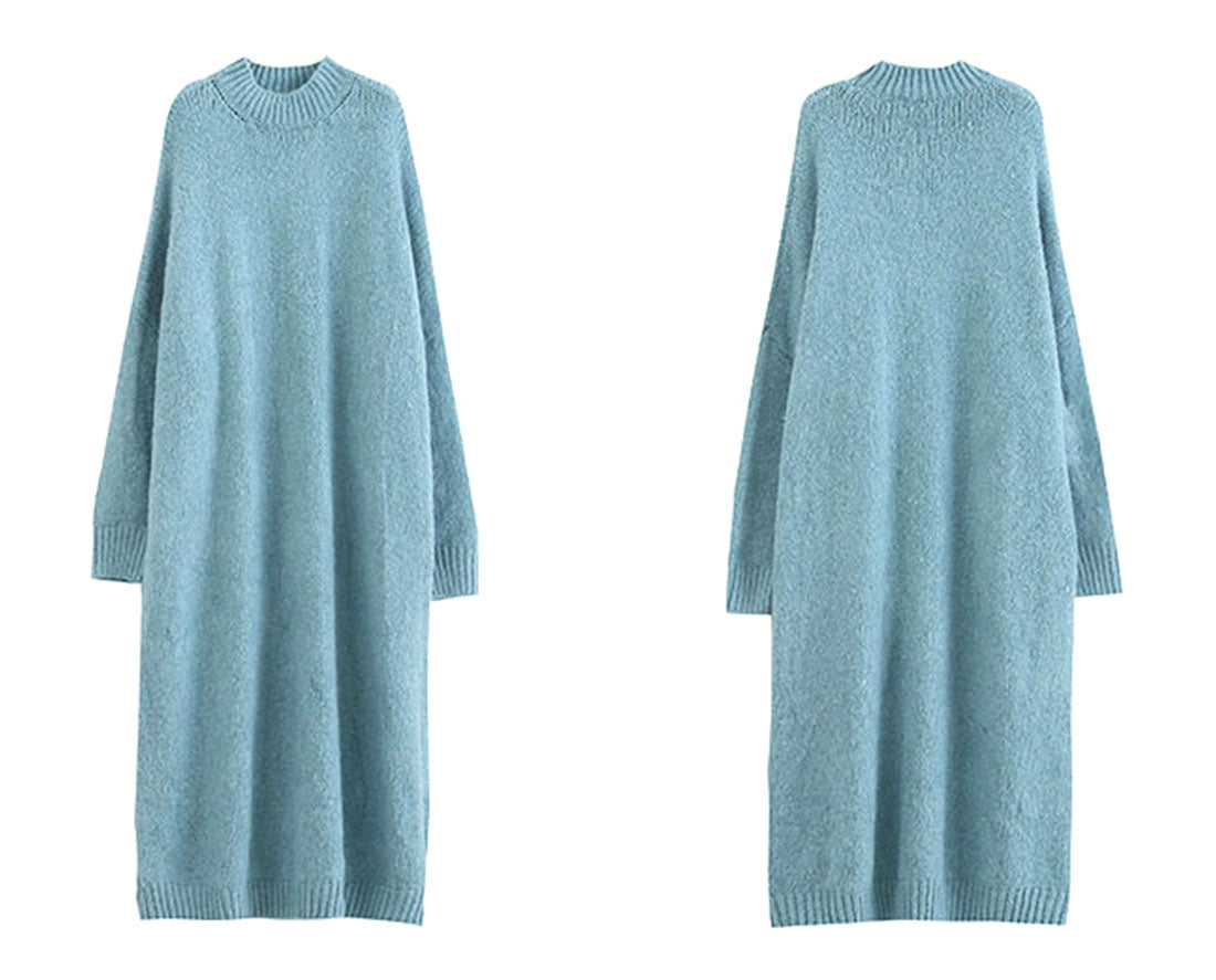 Side By Size Knitted Sweater Dress Details 1