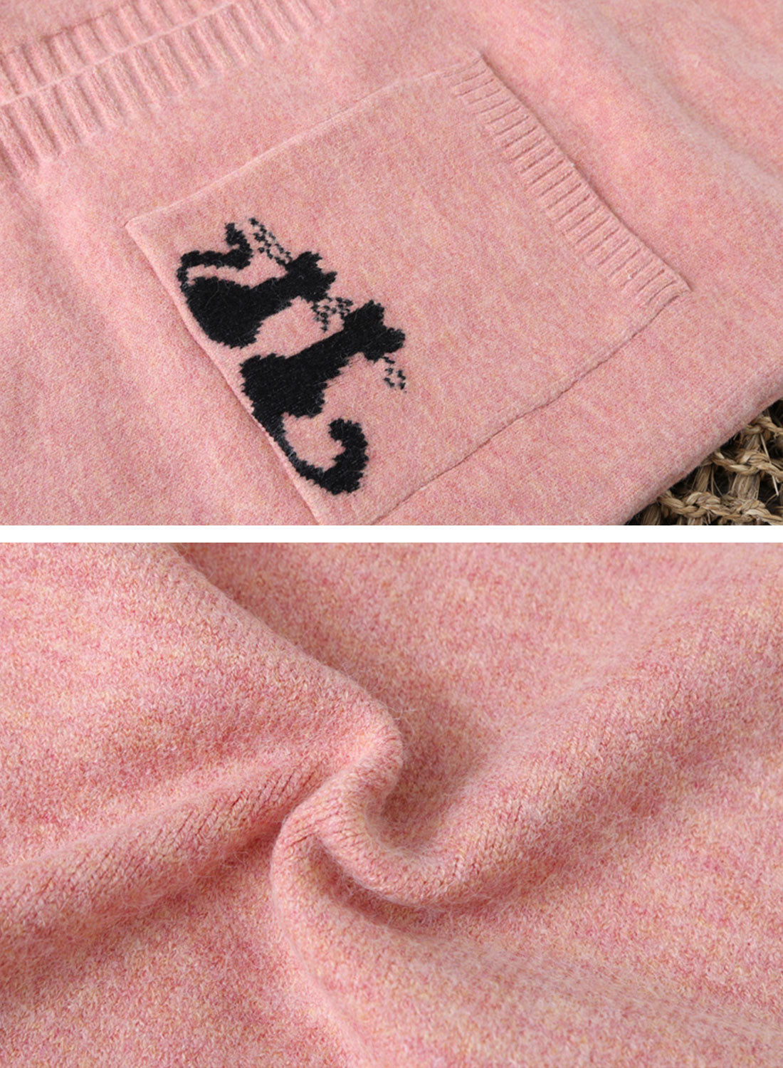 Stalking Cat Old School Cardigan Sweater Details  2