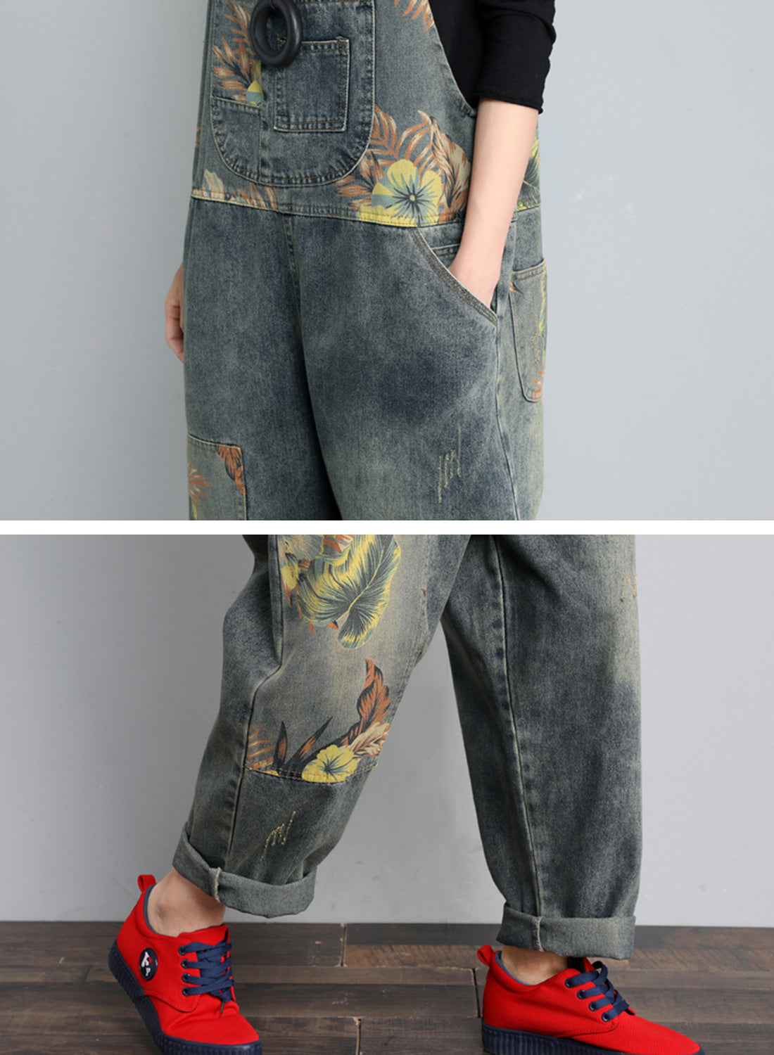 Luxe At Me Cotton Denim Overalls Dungaree Details 2