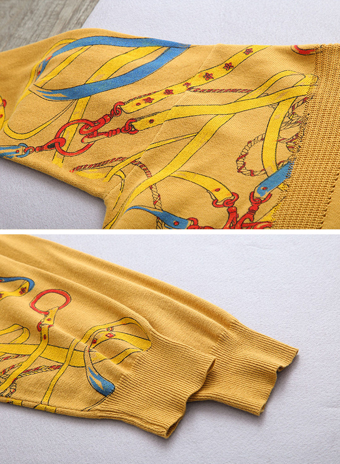 Stitching Sweaters with Side Printing Details 2