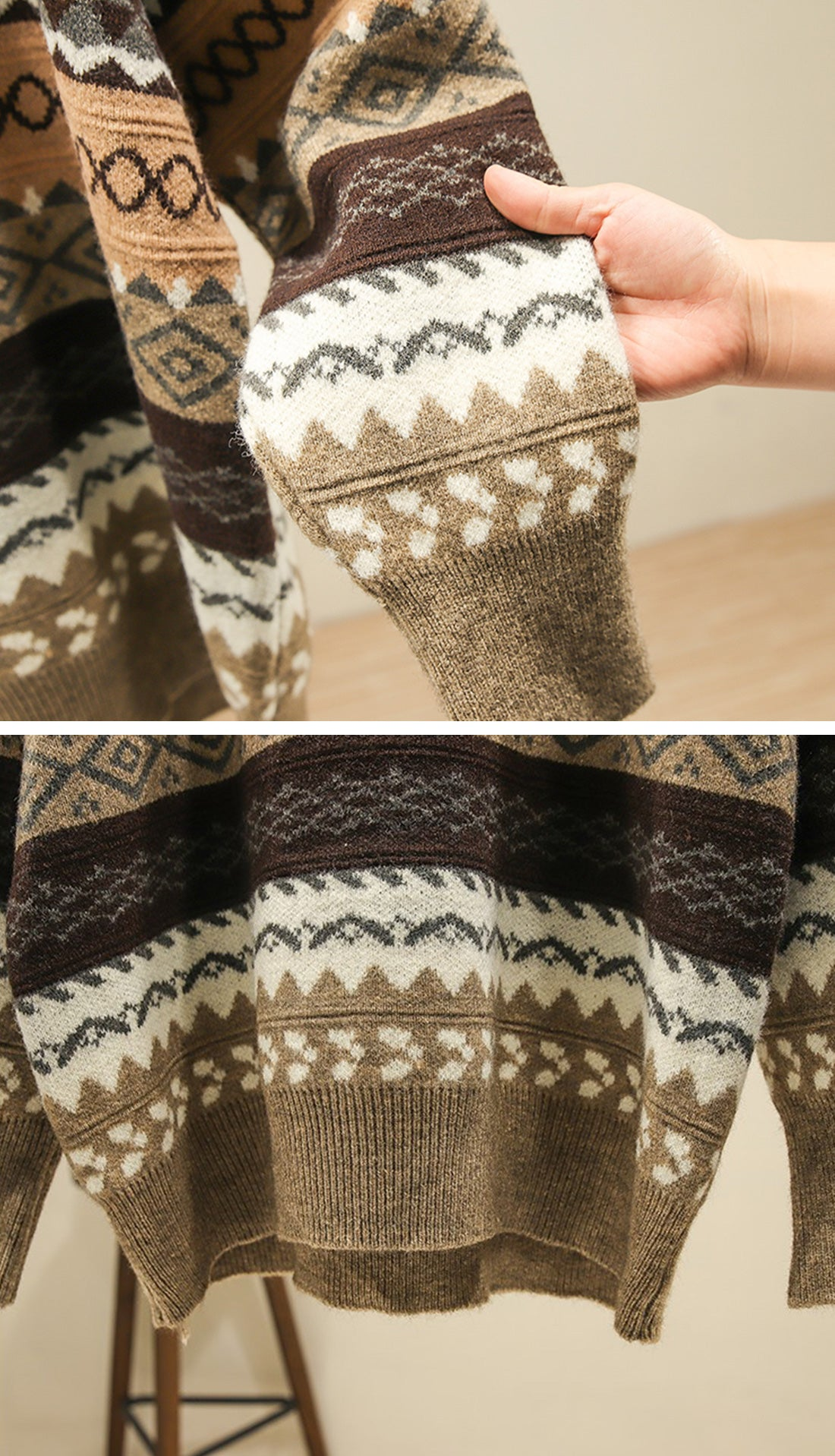 Woods Reversible Sweaters Details 2