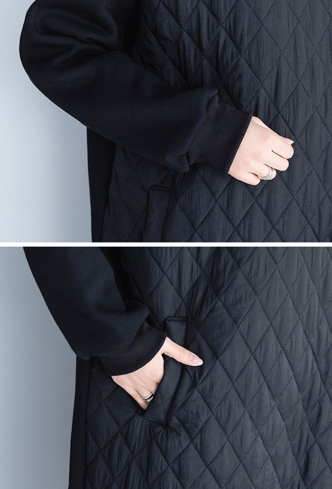 Slide Away Black Sweatshirt Hooded Dress Details 2