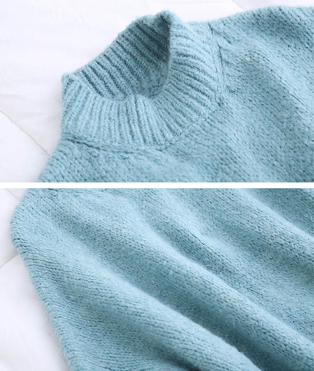 Side By Size Knitted Sweater Dress Details 2