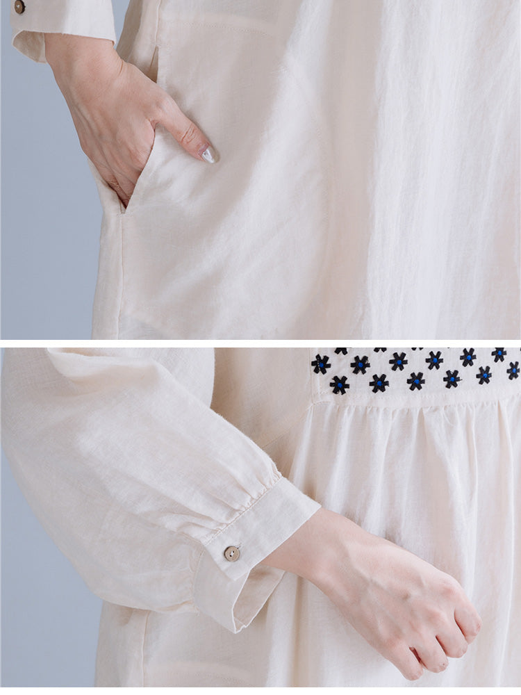 Blissfully Splicing Midi Dress Details 2