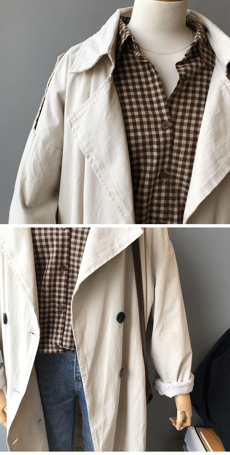 No Limits Crepe Trench Coat Details 2