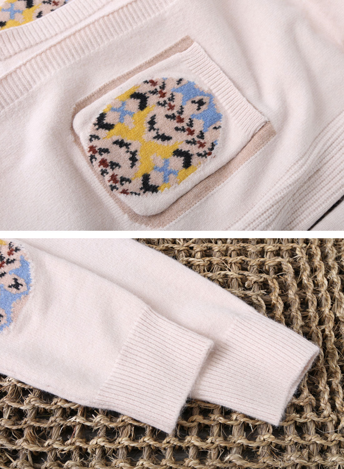 The Louie Patched Pocket Cardigan Sweater Details 2