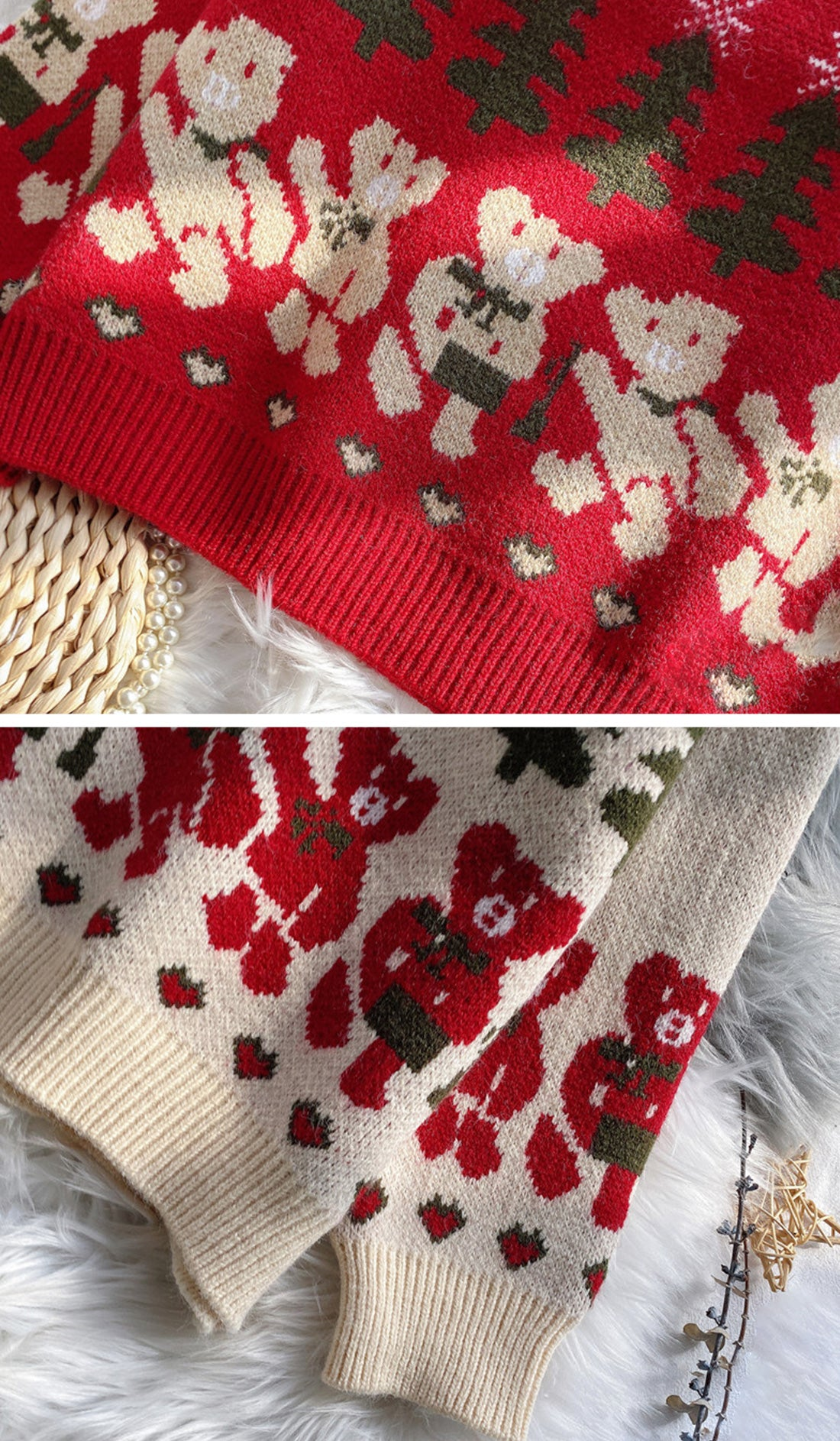 Time For A Beer Christmas Sweater Details 2