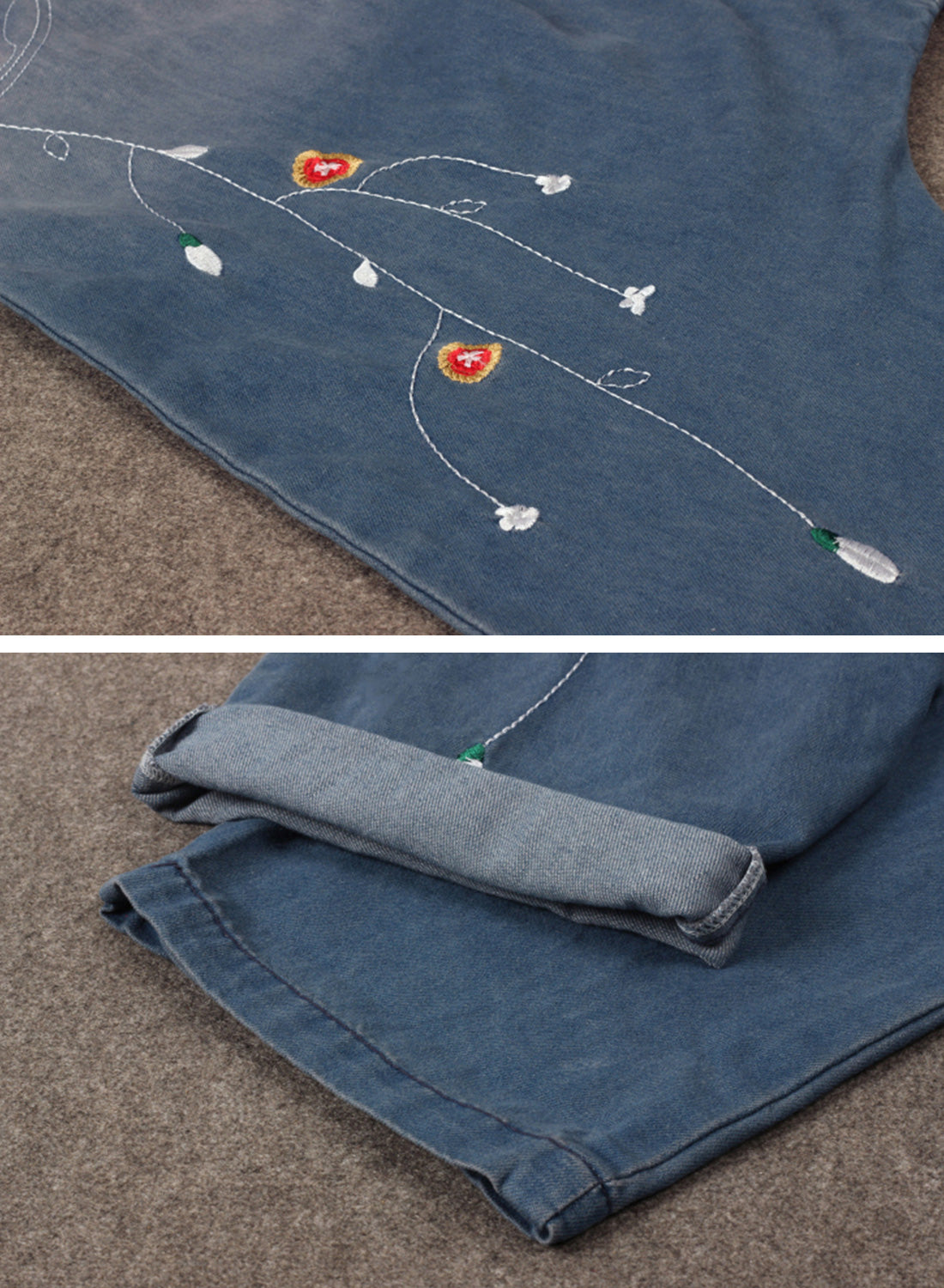 She's So Fancy Cotton Denim Overalls Dungarees Details 2