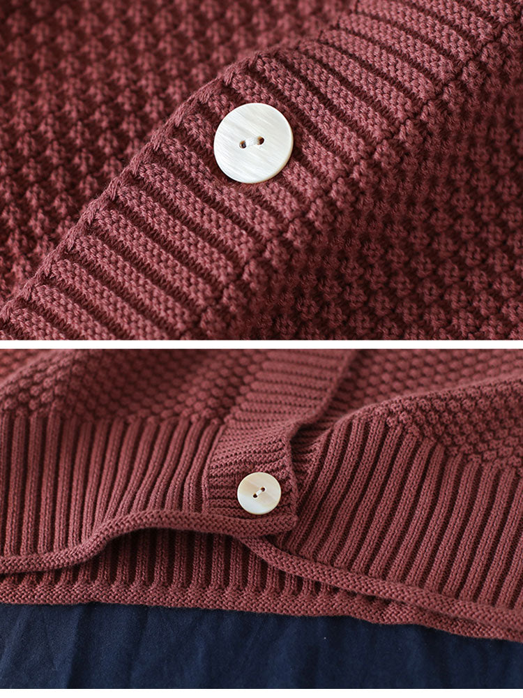 Old School Cardigan Sweater Details 2