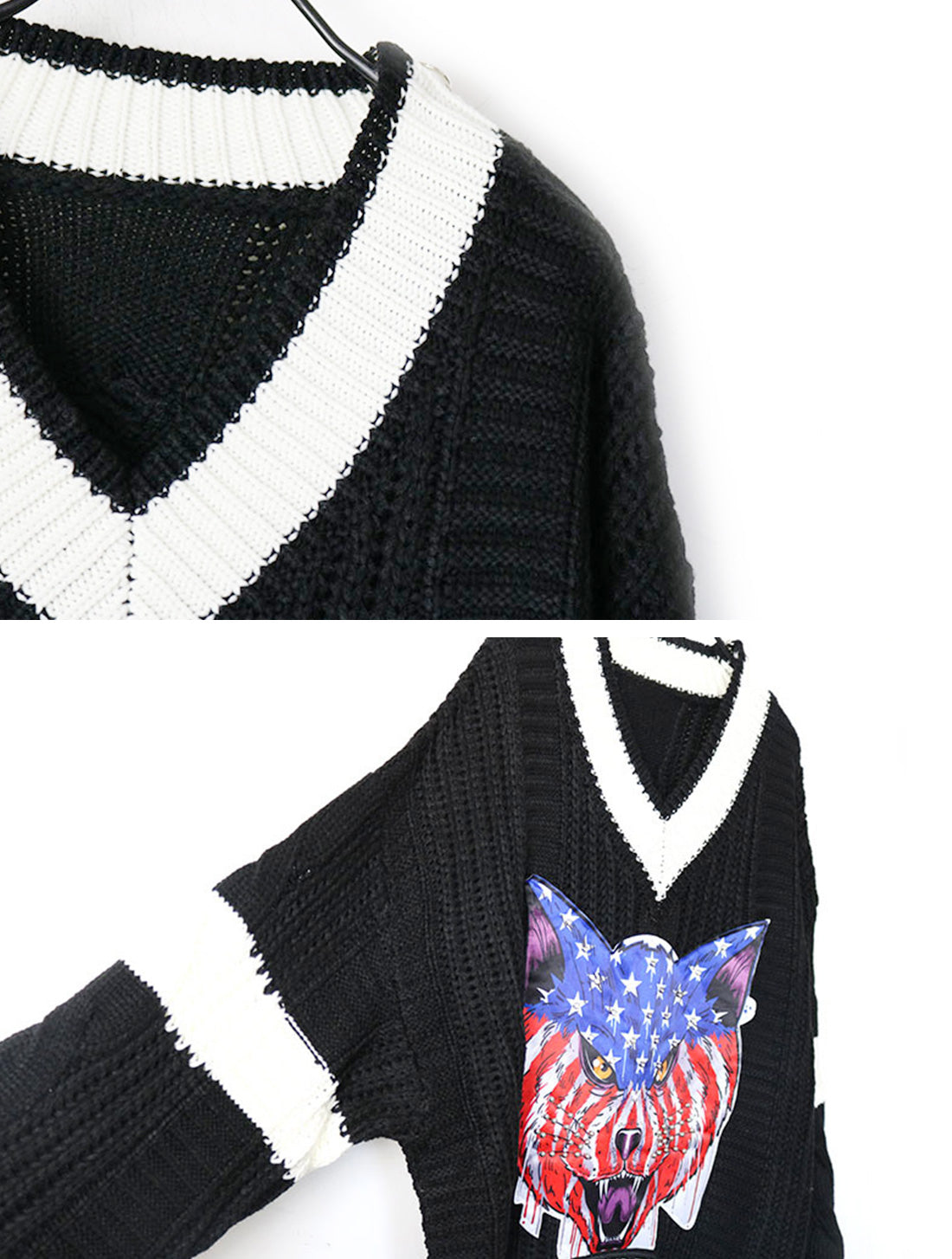 Thunder The Angry Face Sweater Top Details 2